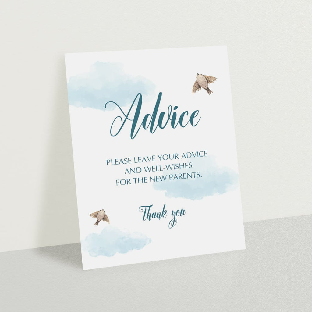 Blue baby shower activity template by LittleSizzle