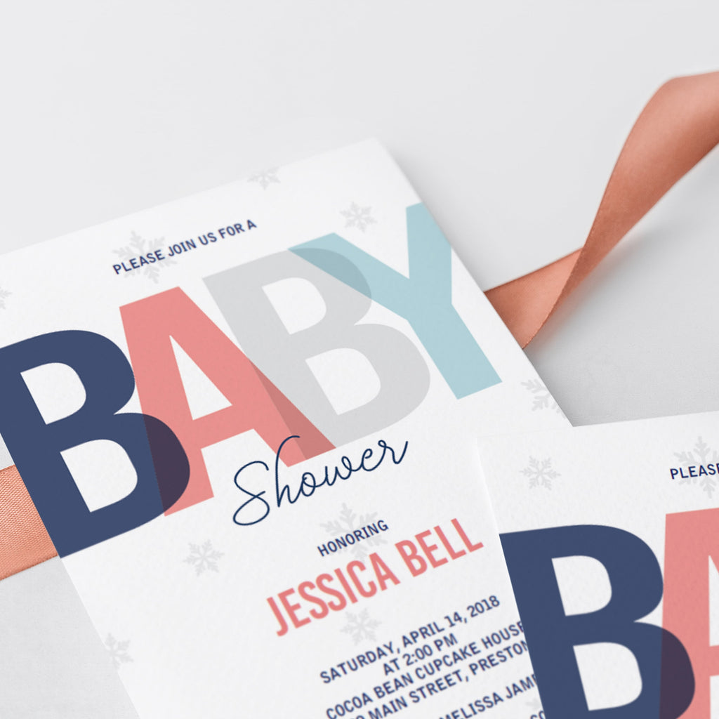 Gender neutral baby shower invites by LittleSizzle