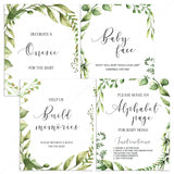 Green leaves baby shower games gender neutral by LittleSizzle