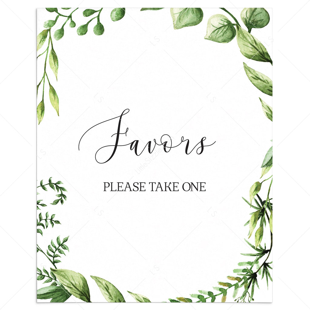 Instant download favors table sign for neutral baby shower party by LittleSizzle
