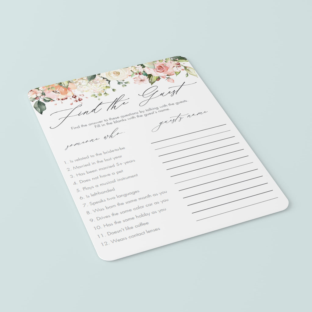 floral bridal shower games printables by LittleSizzle