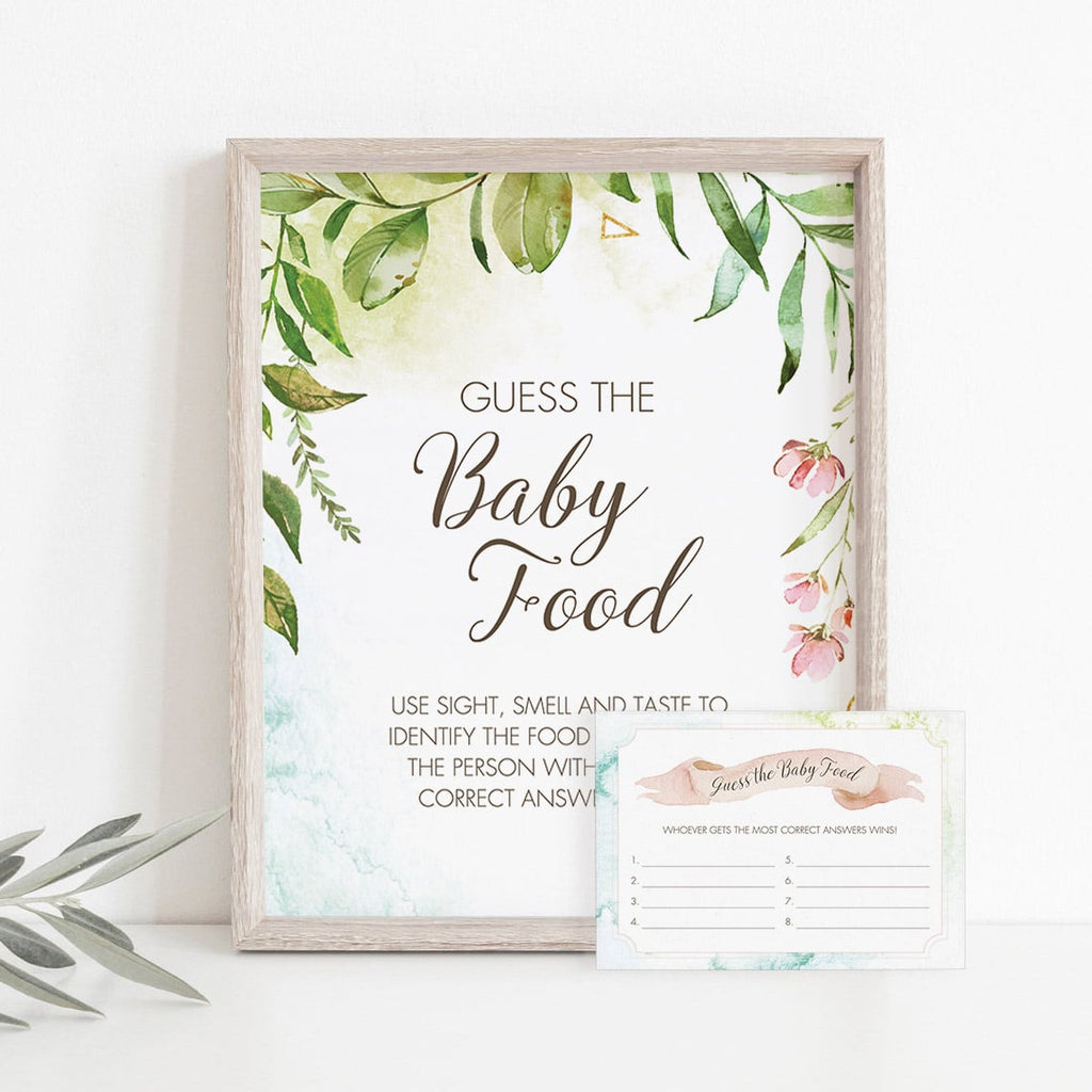 Printable guess the food game for garden baby shower by LittleSizzle