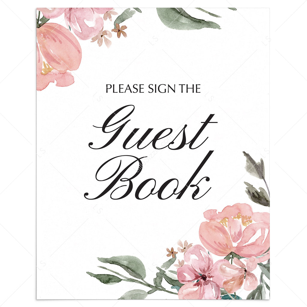 Whimsical guest book table sign printable by LittleSizzle