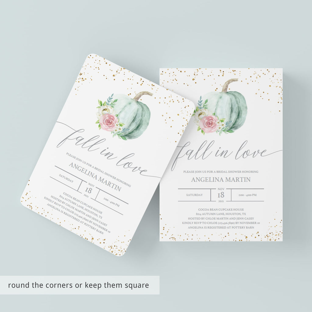 Fall wedding party invitation fall in love by LittleSizzle
