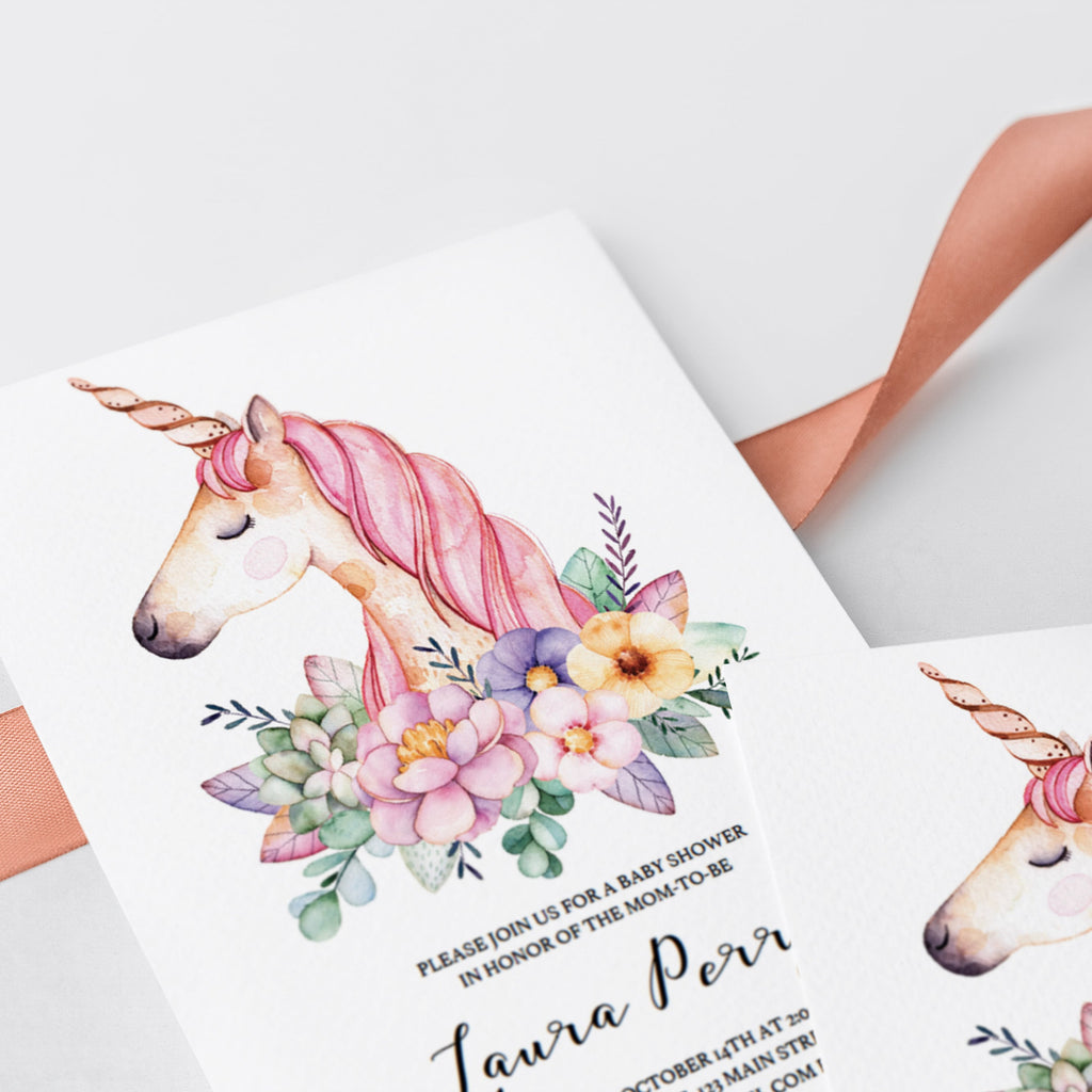 Unicorn printable for baby showers by LittleSizzle