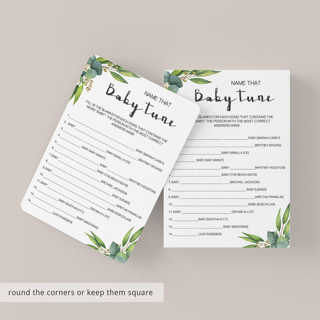 Modern green baby shower purse game download PDF by LittleSizzle