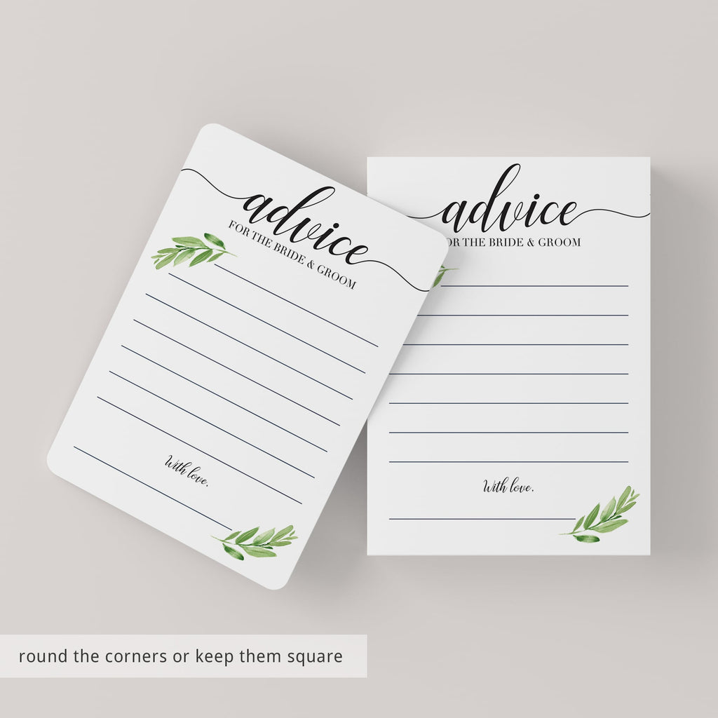 Advice cards for bridal shower by LittleSizzle