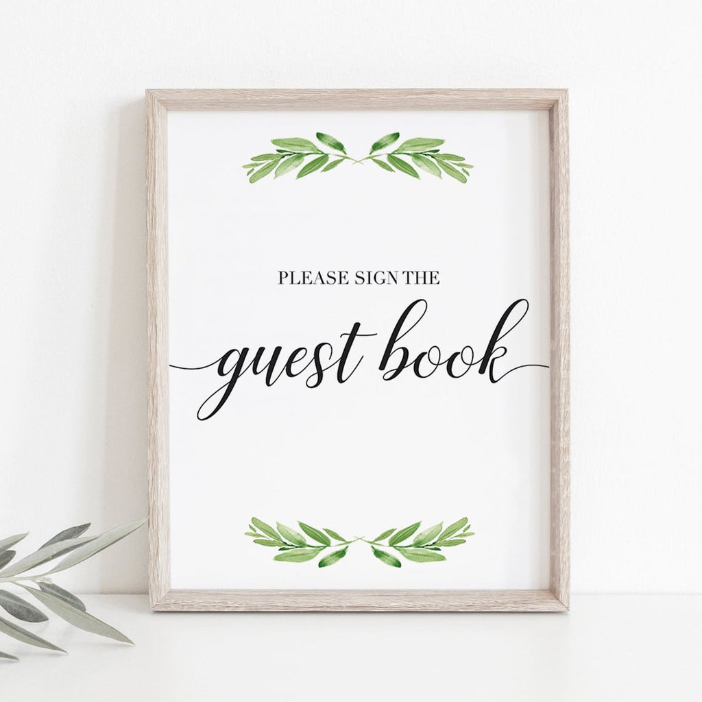 Please sign the guest book sign for neutral baby party by LittleSizzle