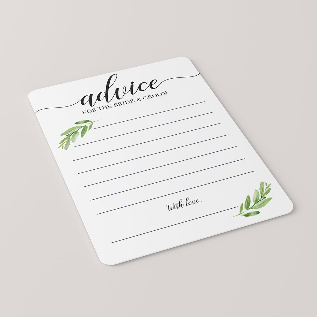 DIY bridal shower advice cards for bride and groom by LittleSizzle
