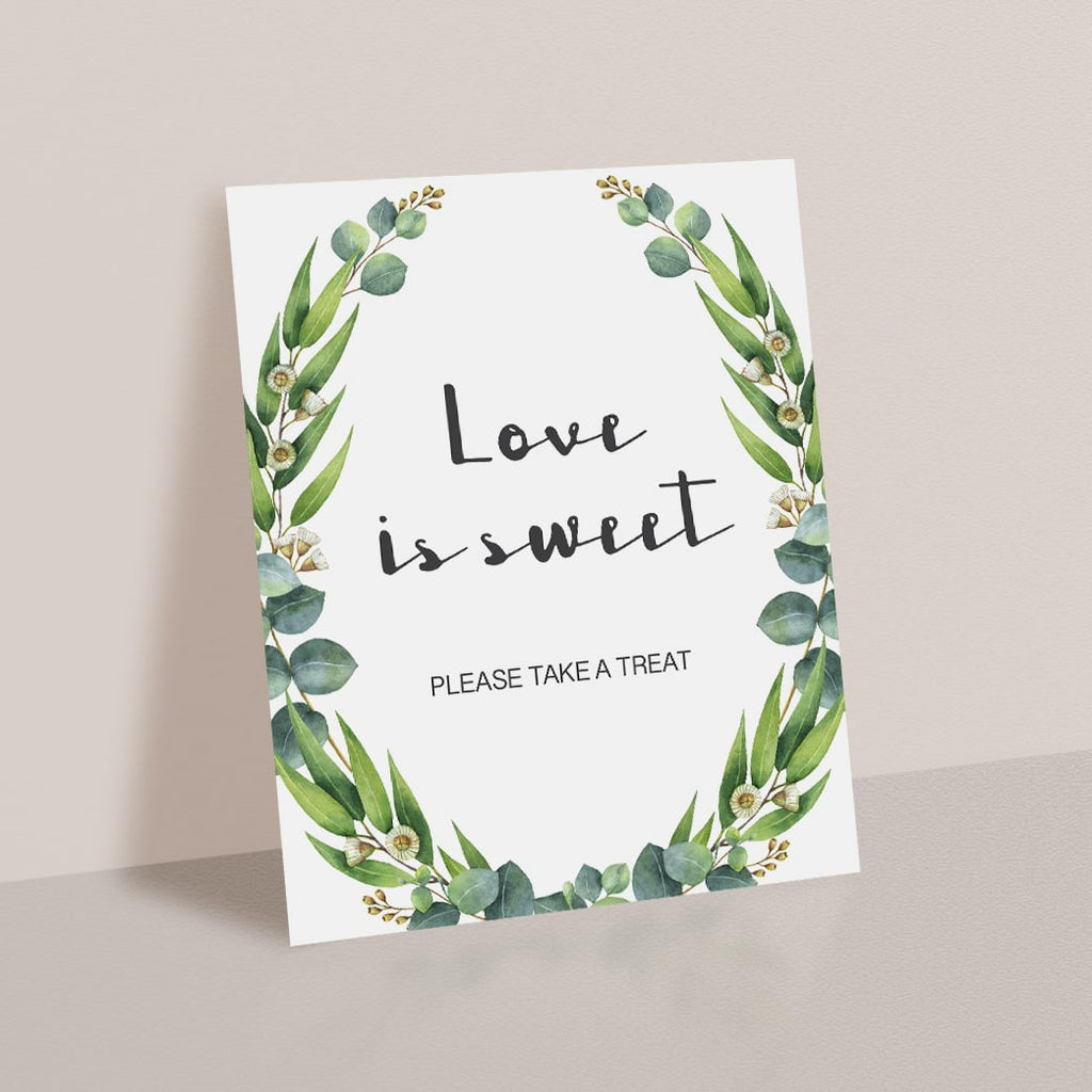 Love is Sweet Sign for Bridal Shower Favors