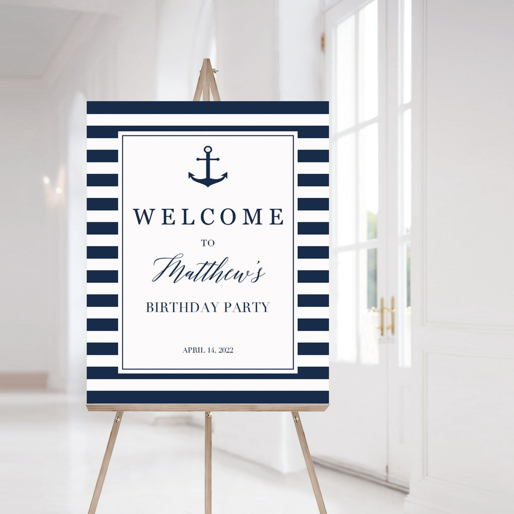 Boy birthday welcome sign template by LittleSizzle
