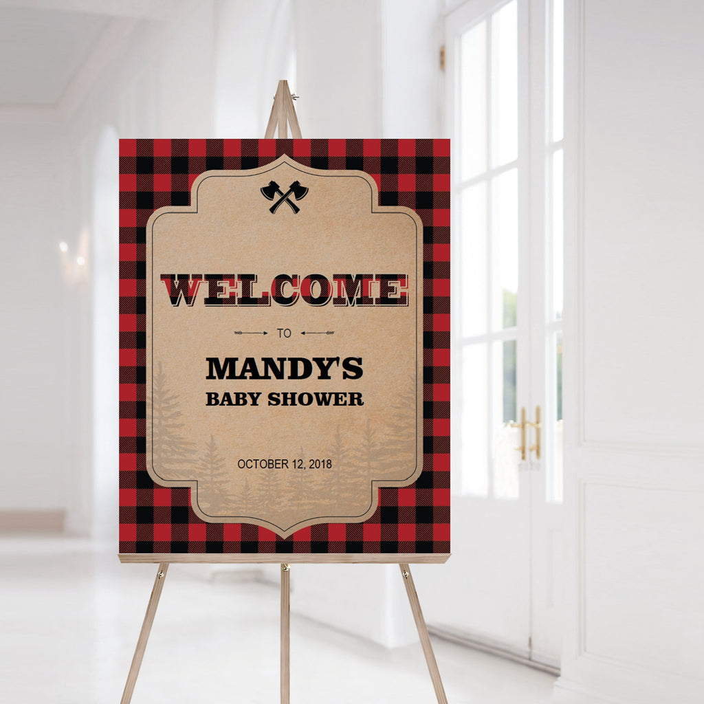 Printable welcome sign for forest themed party by LittleSizzle