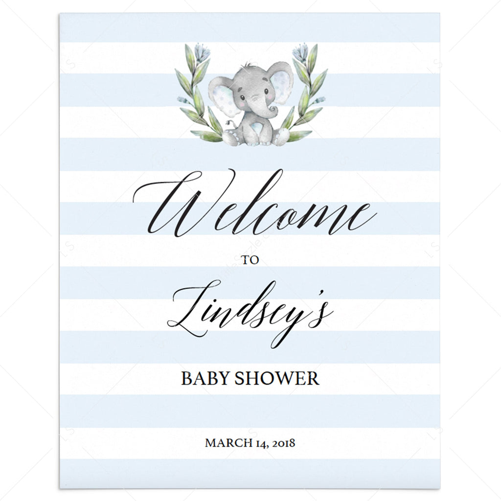 Welcome sign template for boy baby shower by LittleSizzle
