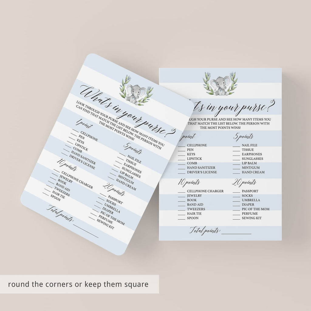 Popular baby shower game cards what's in your bag by LittleSizzle