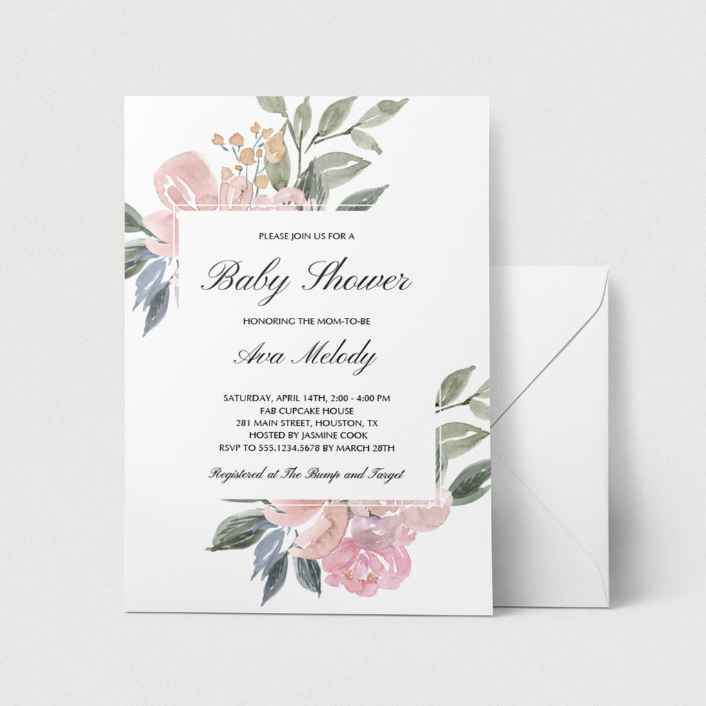 Whimsical Baby Shower Invitation Template by LittleSizzle