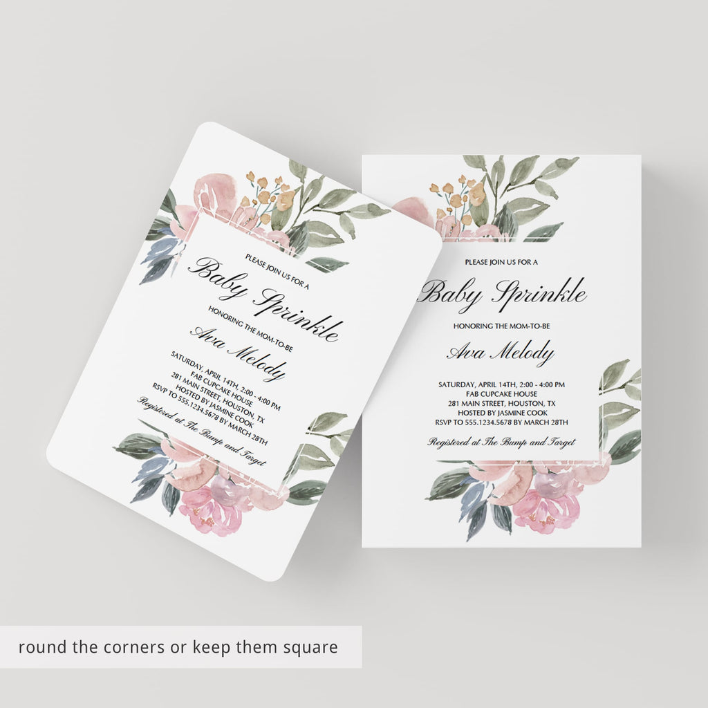 Whimsical Baby Sprinkle Invitation Suite Templates