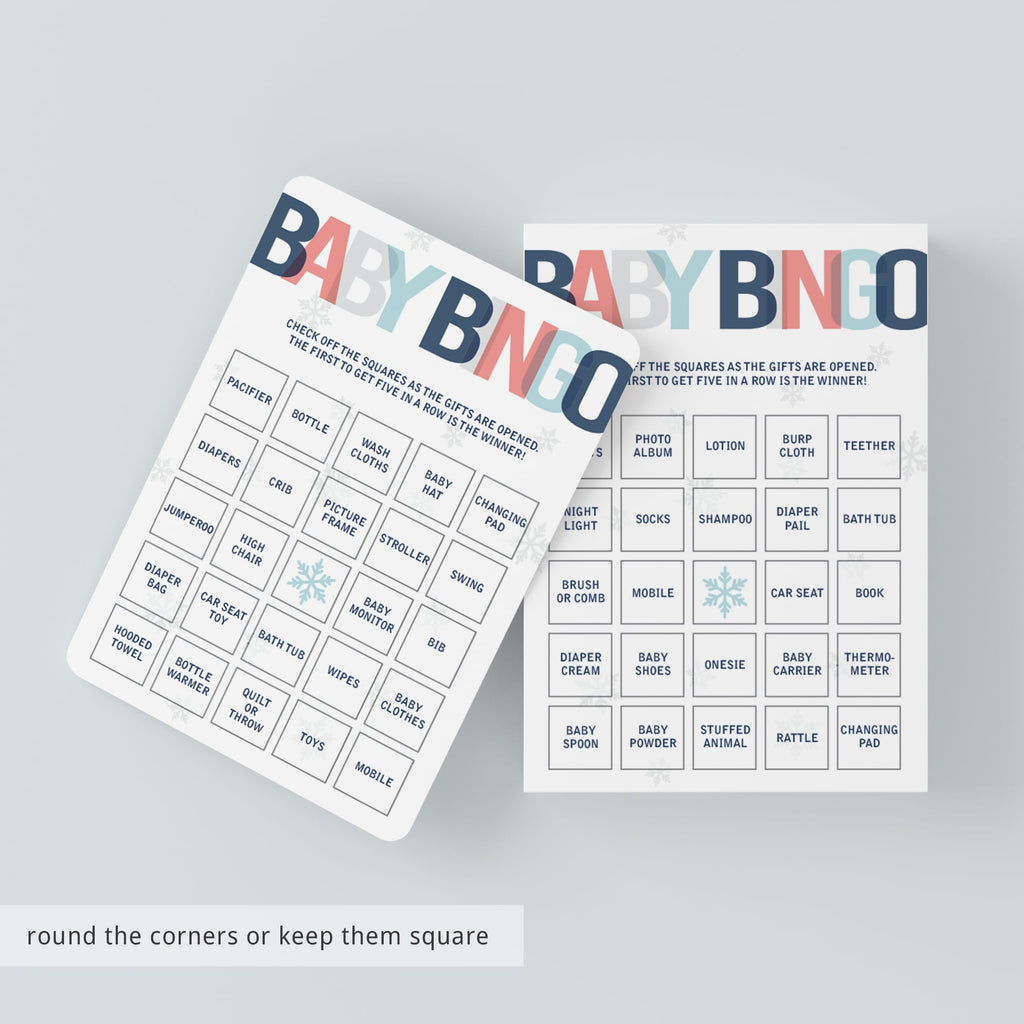 Blue and red baby bingo game printable by LittleSizzle