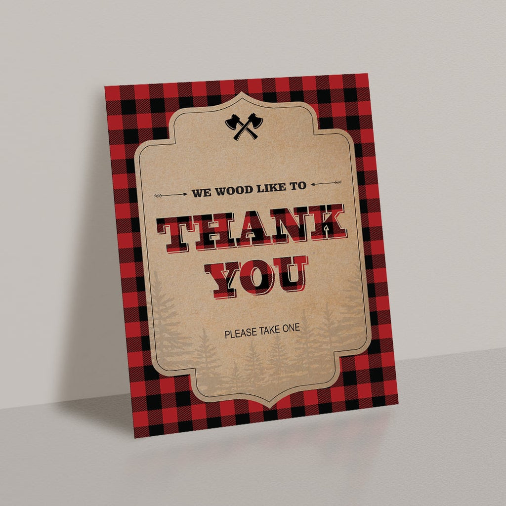 Thank you favors sign for woods party by LittleSizzle