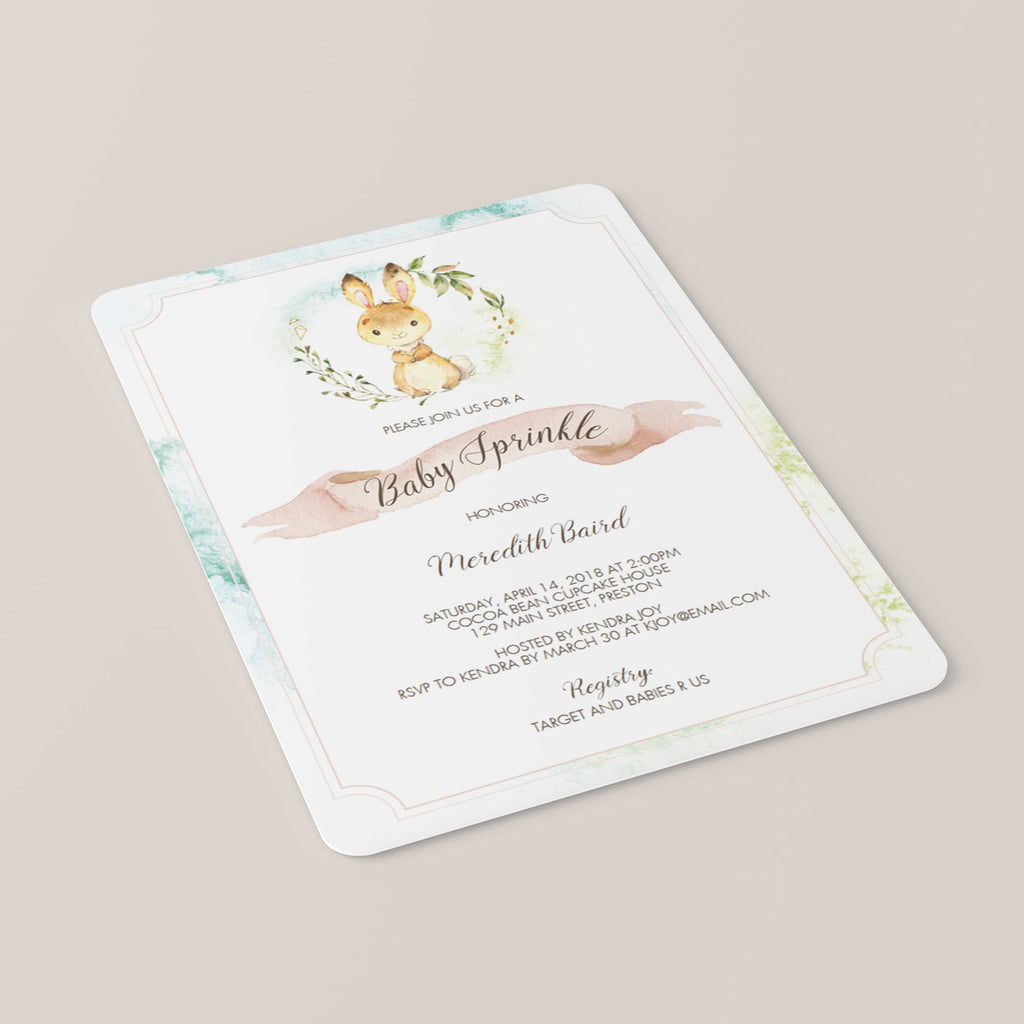 Baby Bunny Baby Sprinkle Invitation Bundle Template