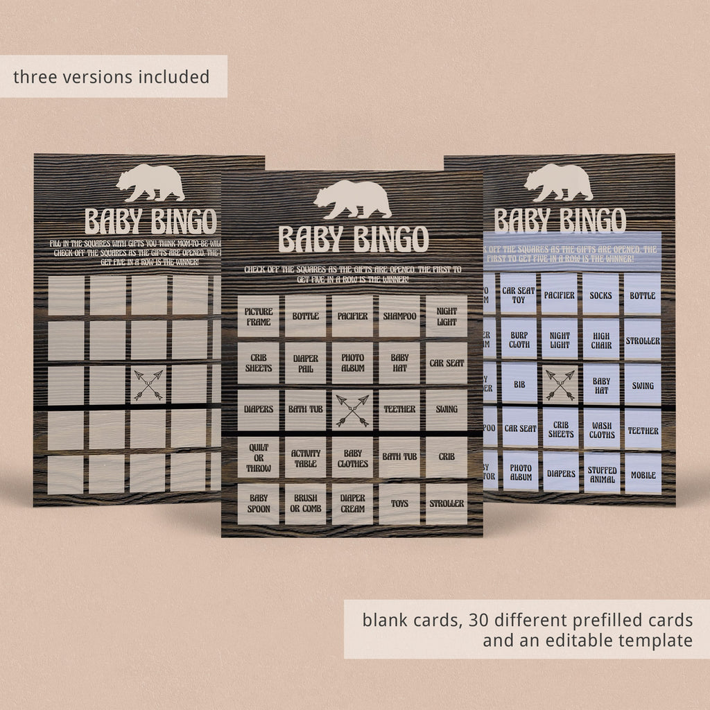 Baby bingo game package printable by LittleSizzle