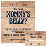 Rustic baby shower game how big is mommys belly by LittleSizzle