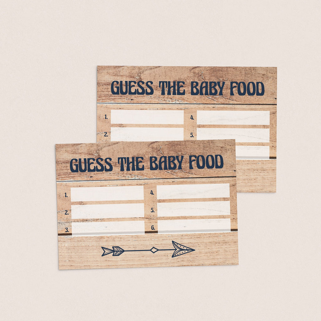 Printable guess the food baby shower cards by LittleSizzle