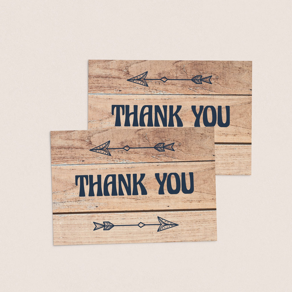 Download PDF thank you cards rustic wood by LittleSizzle