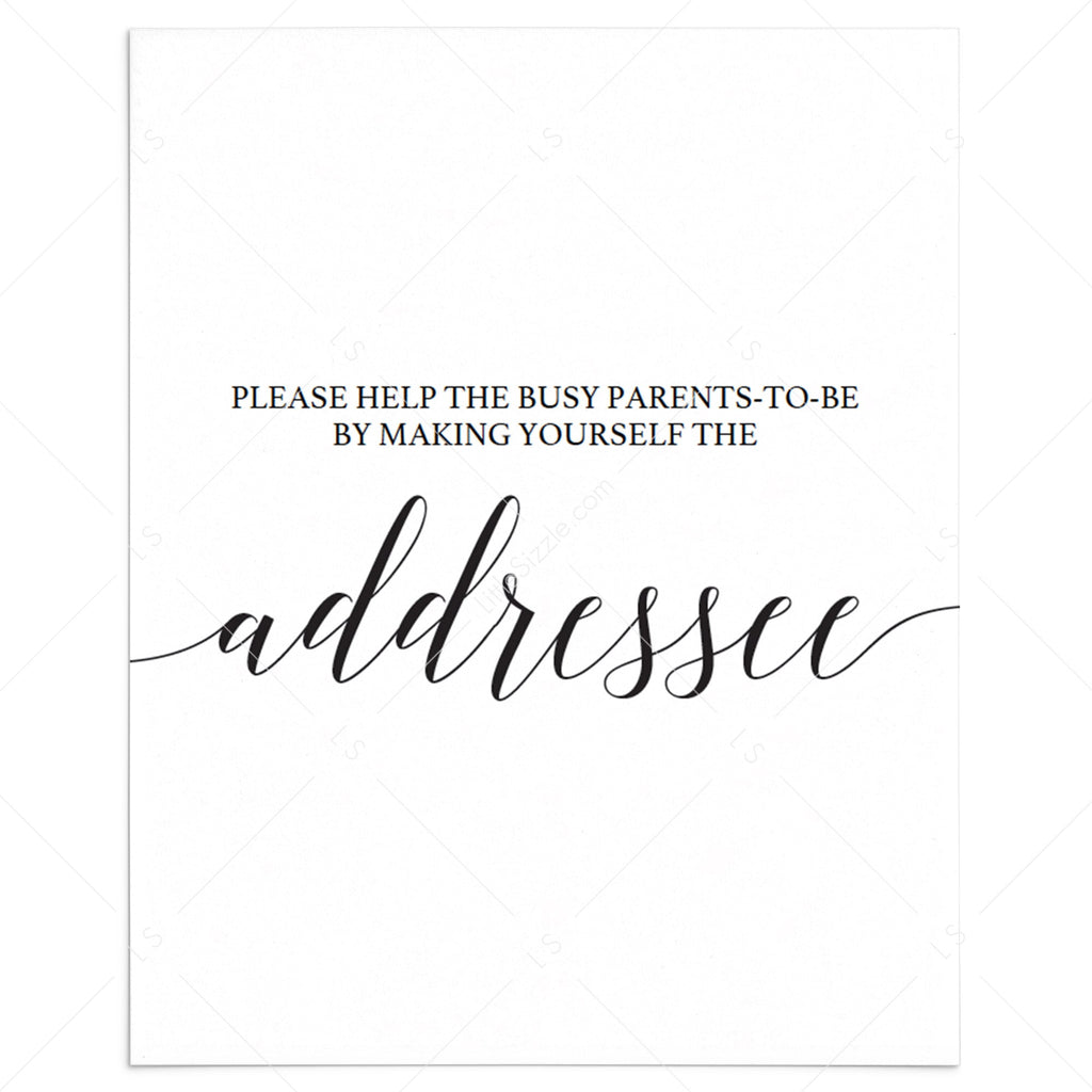 Address request table sign template by LittleSizzle