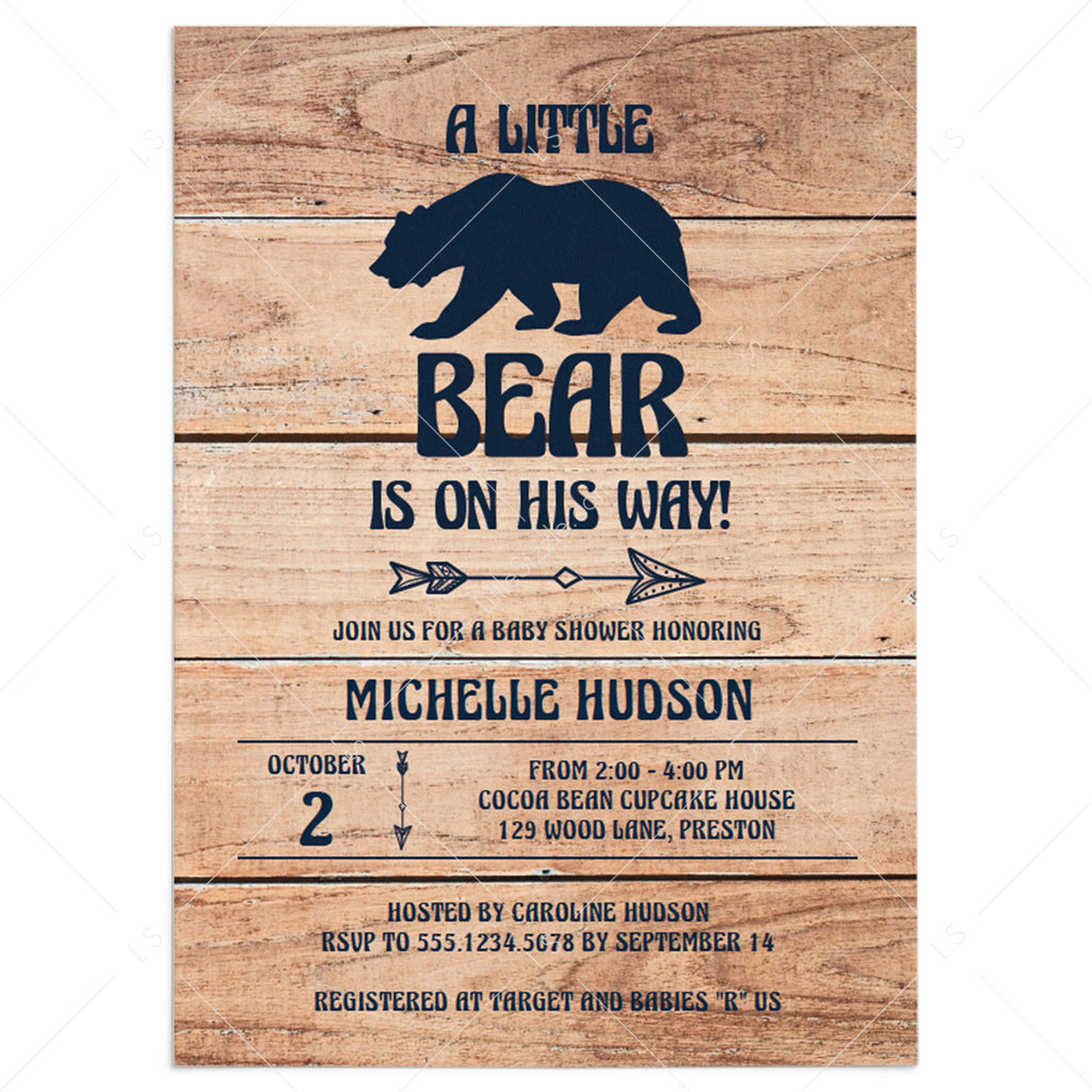 Adventures bear baby shower invitation template by LittleSizzle