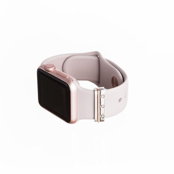 Rose Gold Mini Glam Stack™ stacking rings - Apple Watch accessory
