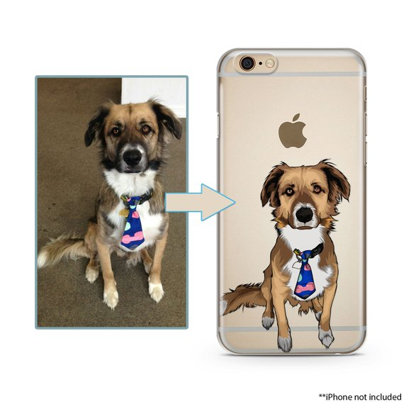 Custom illustrated Dog iPhone Case