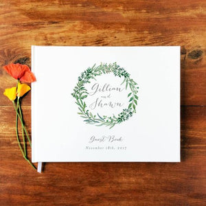 Wedding Guest Book Landscape- Hardcover