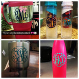 Monogram Decal Sticker