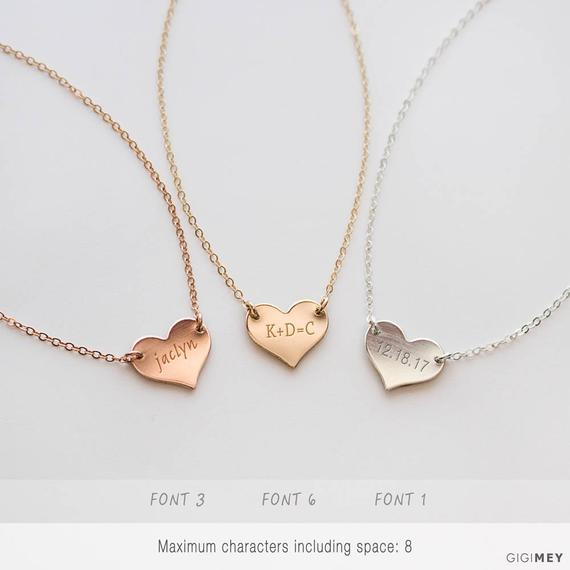Customized Heart Necklace