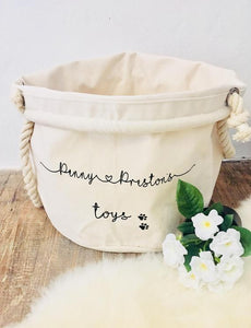 Personalized Pet Toy Basket