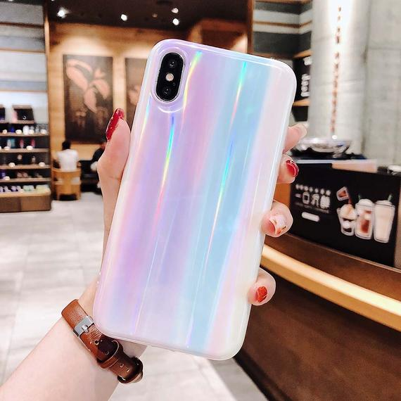 iPhone Laser Beam Holographic Soft Case