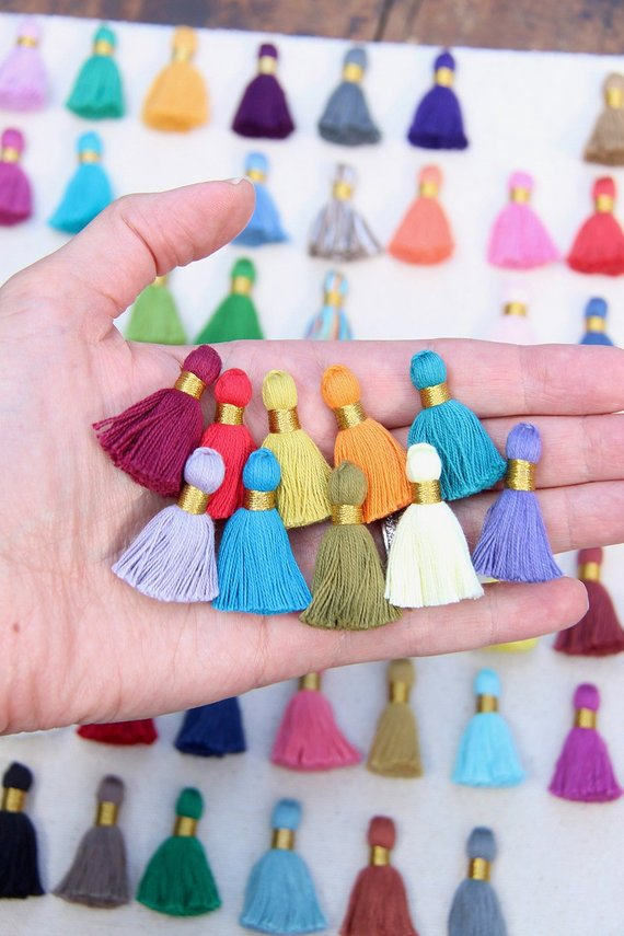 Mini Cotton Tassels