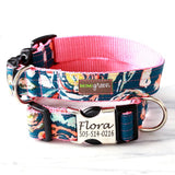 Personalized Laser Engraved Metal Buckle Dog Collar