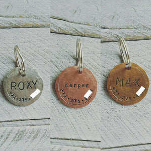 Custom Hand Stamped Dog ID Tag