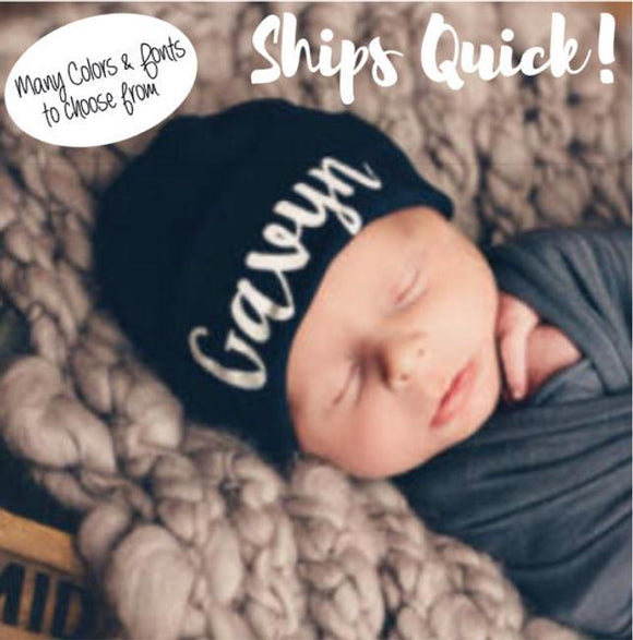 Personalized Newborn Hat