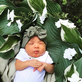 Sage : ( Soft ) Baby Turban Hat