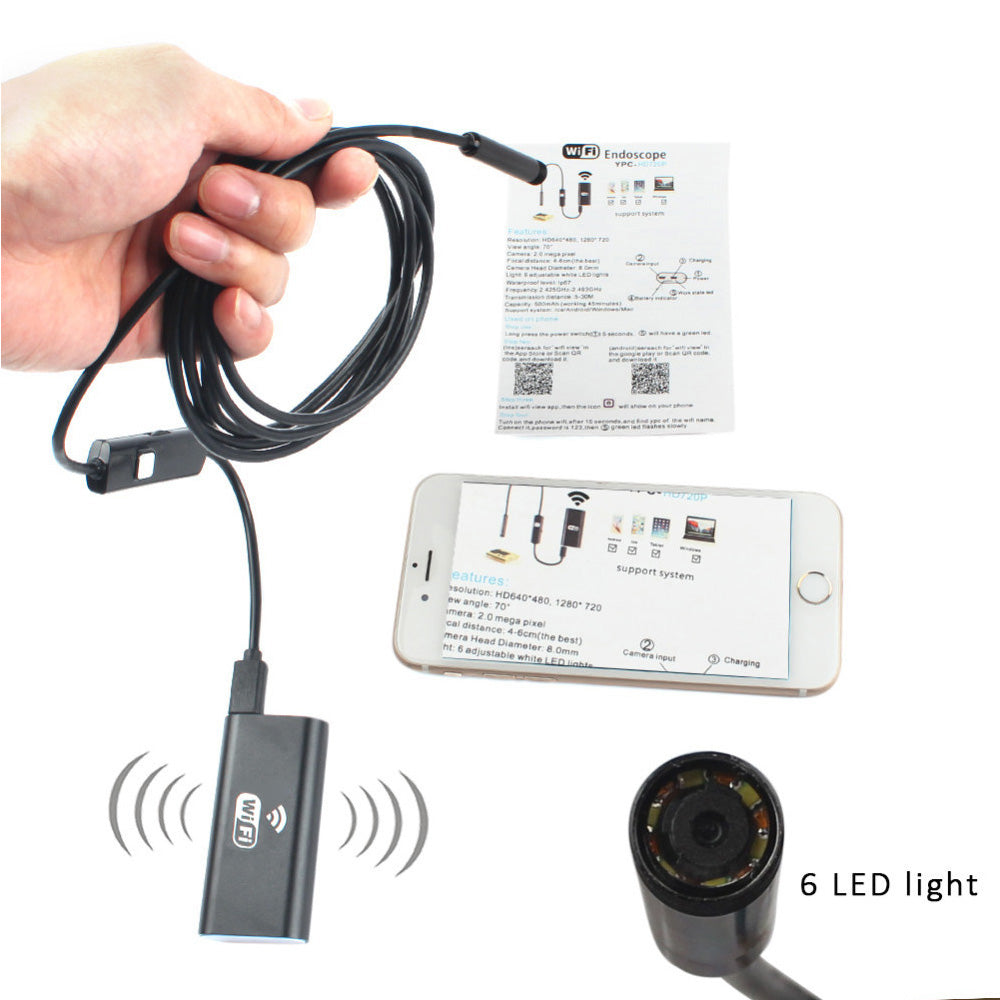 8mm Lens Wifi Android Iphone Endoscope Camera
