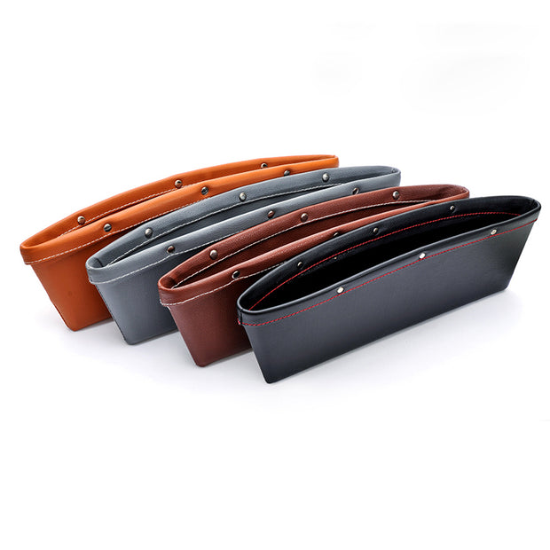 Car Side Seat Pocket Organizer Leather