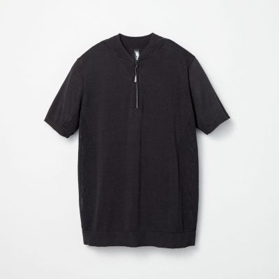 SS Mesh Knit Half Zip Polo