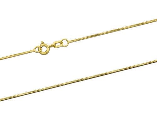 9ct Gold 0.9mm snake chain