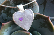 Hand cast sterling silver heart pendant