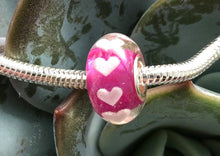 Breastmilk hearts resin charm