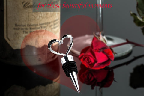 wine stopper heart cute personalized ideas funny gifts weeding unique christmas art decorative red white bottle