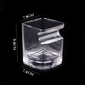 whiskey glass with cigar holder for whisky 300 ml V shaped cutter dimensions