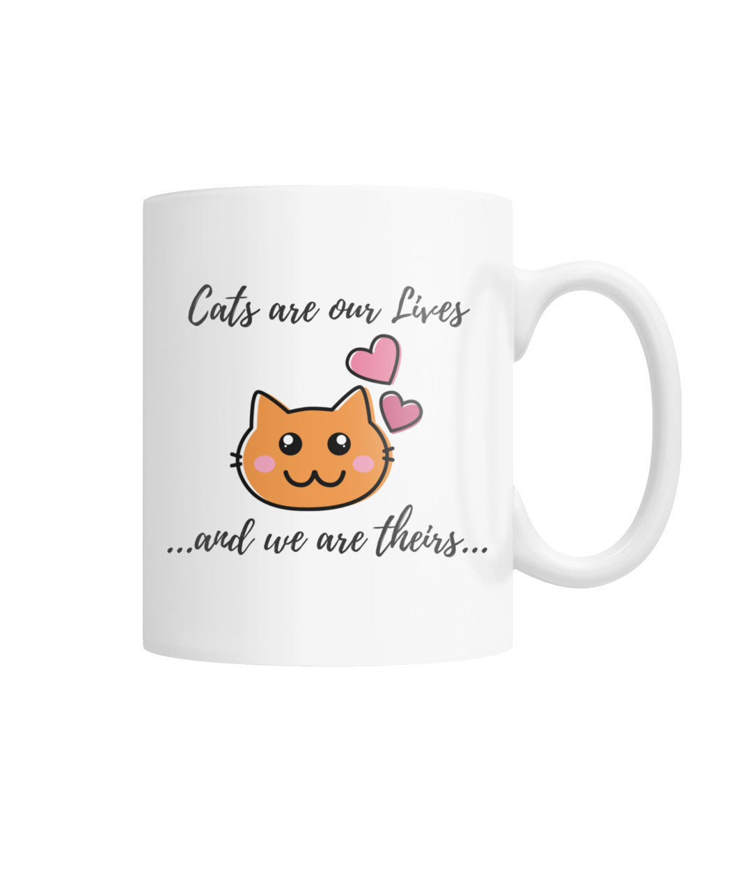 Cats are our Lives White Coffee Mug